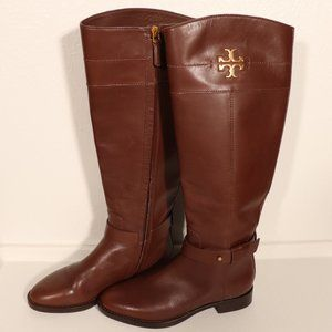EUC Tory Burch Adeline Riding Boots Shade Almond